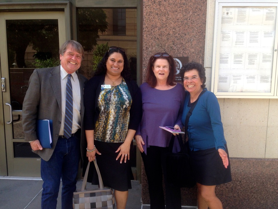 South Bay Clean Power working group members Dency Nelson, Sona Coffee, Katharine King, Cris Gutierrez (left to right)